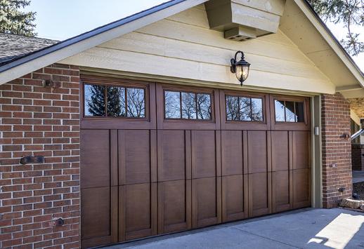wood garage door boise