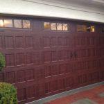 Cherry Wood Garage Door