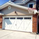 White Barn Style Garage Door