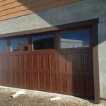 Wooden and Glass Garage Door Boise